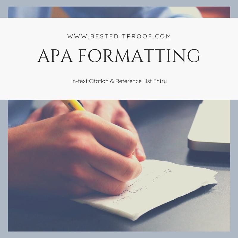 American Psychological Association (APA) format