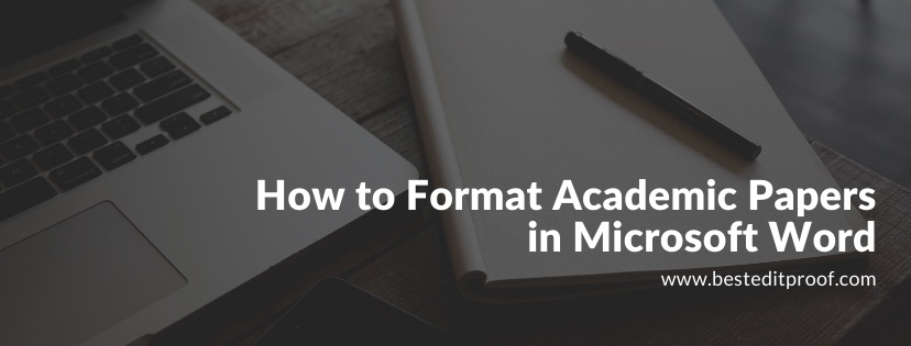 How to format academic papers