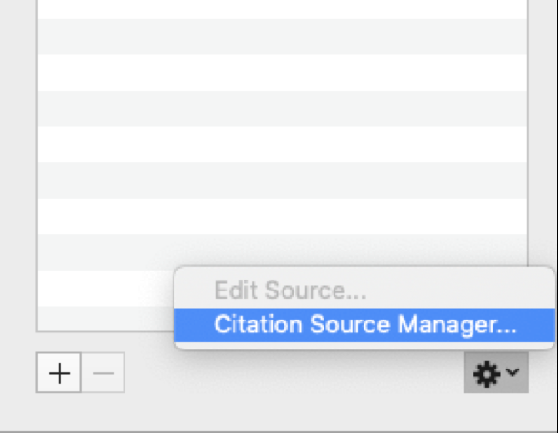 citations source manager