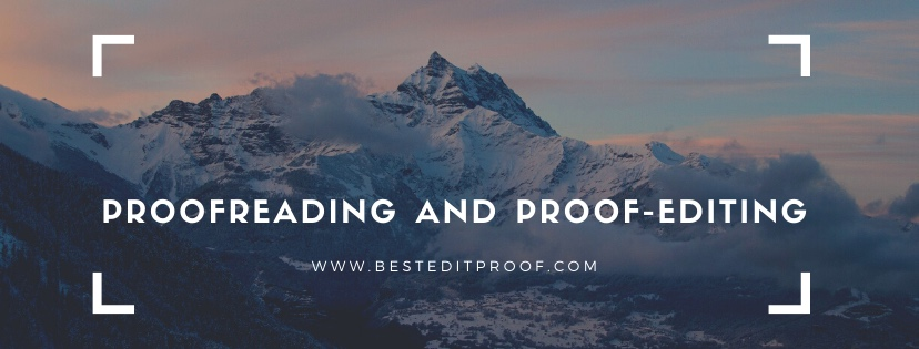 proofreading and proofediting